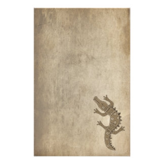 Tribal Alligator Stationery Paper