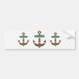 Tribal Anchor Bumper Sticker