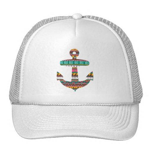Tribal Anchor Mesh Hat