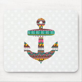 Tribal Anchor Mouse Pad