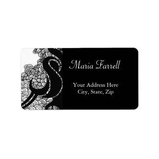 Tribal and Crescent Swirls  Address Label