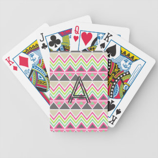 Tribal andes aztec chevron zigzag triangle zig zag bicycle playing cards