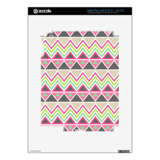 Tribal andes aztec chevron zigzag triangle zig zag decal for iPad 3