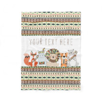 Tribal Animal Baby Fleece Blanket