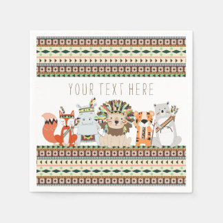 Tribal Animal Baby Shower Paper Napkin
