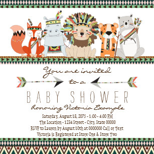 Indian Baby Shower Invitations Zazzle