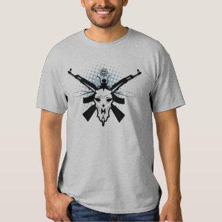 Tribal Animal Skull and Guns T-Shirt