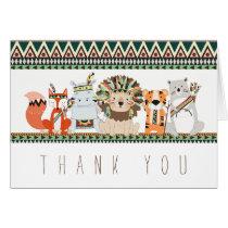 Tribal Animal Thank You Cards