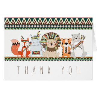 Tribal Animal Thank You Cards