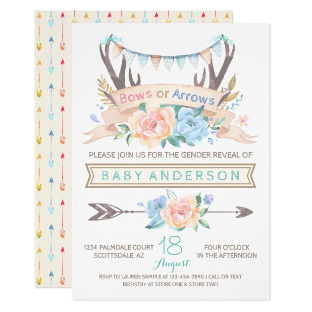 67 Gender Reveal Invitation Templates For Your Baby Shower