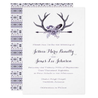 Tribal Arrow and Antlers Purple Card