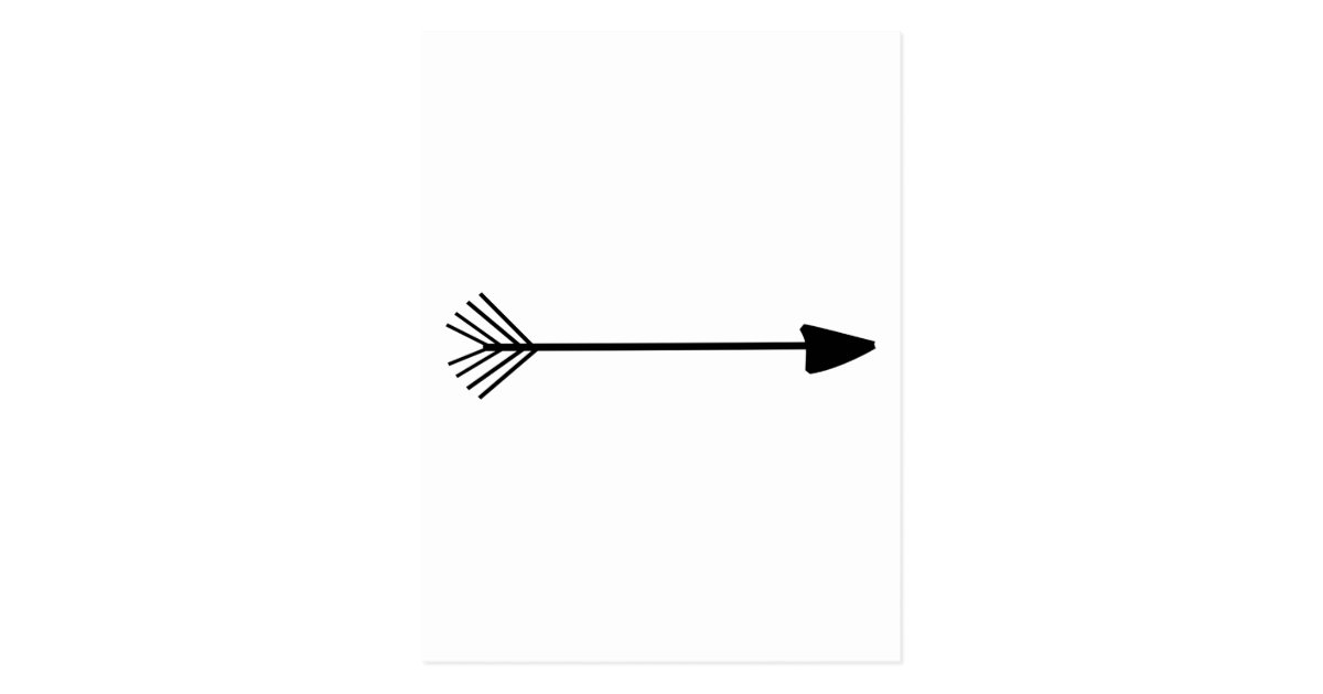 Tribal Arrow Art Single Black Arrow Custom Color Postcard