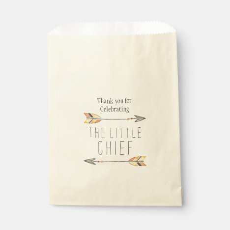 Tribal Arrow Baby Shower Favor Bag