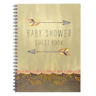 Tribal Arrow Baby Shower Guest Spiral Notebook