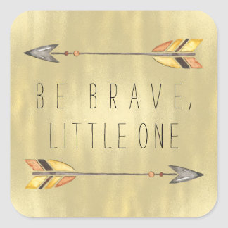 Tribal Arrow Baby Shower Square Sticker