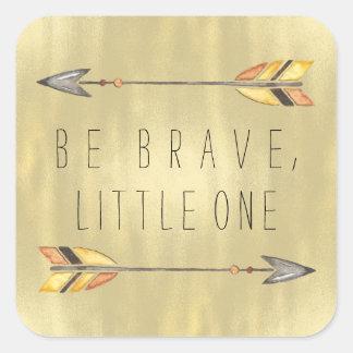 Tribal Arrow Baby Shower Square Sticker