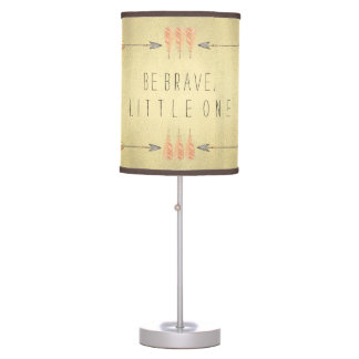 Tribal Arrow Be Brave Baby Boy Table Lamp