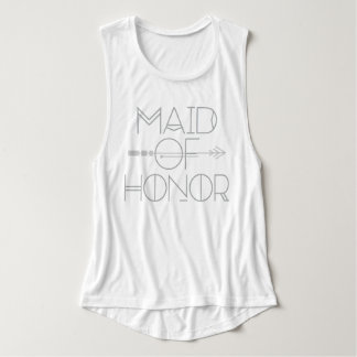 Tribal Arrow Maid of Honor | Wedding Party| Tank