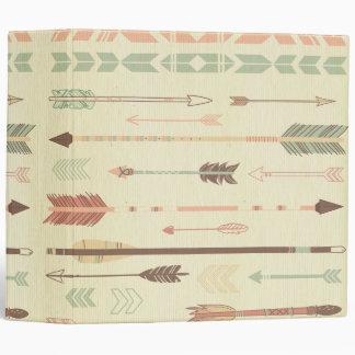 Tribal arrow native pattern vintage trendy modern vinyl binders