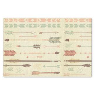 "Tribal arrow native pattern vintage trendy modern 10"" x 15"" tissue paper"