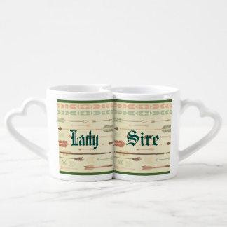 Tribal arrow native pattern vintage trendy modern lovers mug sets