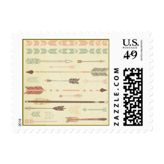 Tribal arrow native pattern vintage trendy modern stamp