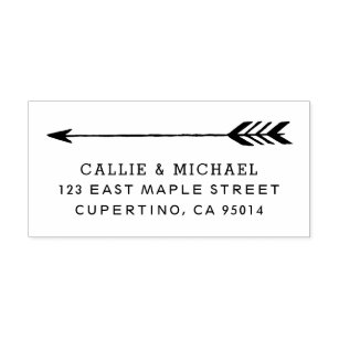 Tribal Arrow Return Address Stamp