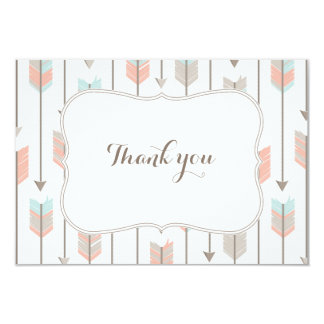 Tribal Arrows Baby Shower Flat Thank You Card