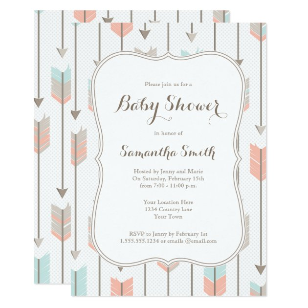 Tribal Arrows Baby Shower Invitation | Zazzle.com