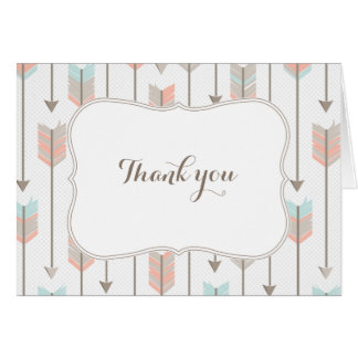 Tribal Arrows Baby Shower Thank You Card