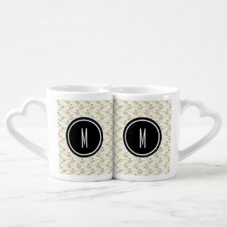 Tribal Arrows | Black Monogram Coffee Mug Set