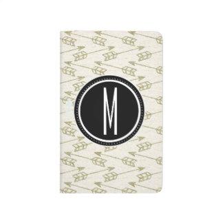 Tribal Arrows | Black Monogram Journal