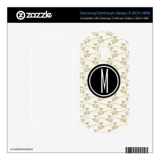 Tribal Arrows Black Monogram Samsung Continuum Decal