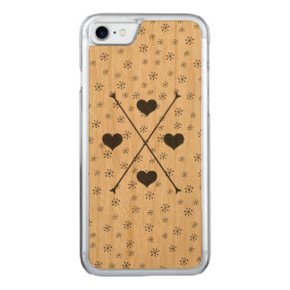 Tribal Arrows Hearts Hipster-Style Carved iPhone 8/7 Case