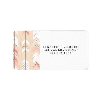 Tribal Arrows Label