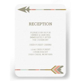 TRIBAL ARROWS RUSTIC WEDDING RECEPTION INVITE
