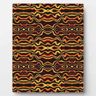 Tribal Art Abstract Pattern Display Plaque