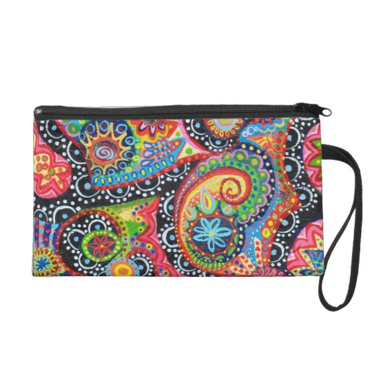 Tribal Art Bag - Clutch Cosmetic Accessory