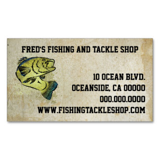 Tribal Art Bass Fish Magnetic Business Cards