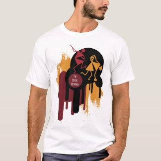 tribal art paint drip tshirt