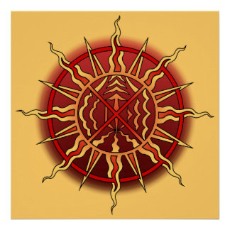 Tribal Art Poster Native Spiritual Print Poster