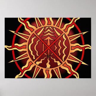 Tribal Art Poster Spitiual Native Art Print Poster