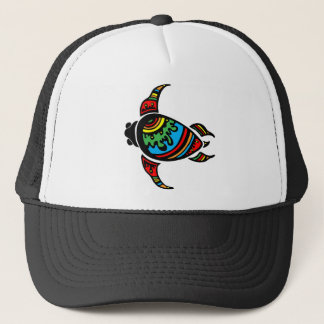 TRIBAL ART SEA TURTLE TRUCKER HAT
