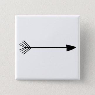 Tribal Art Single Black Arrow Trendy Designs Button
