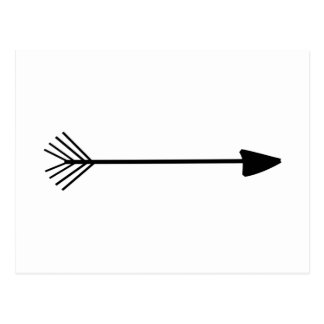 Tribal Art Single Black Arrow Trendy Designs Postcard