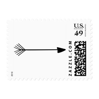 Tribal Art Single Black Arrow Trendy Designs Stamp