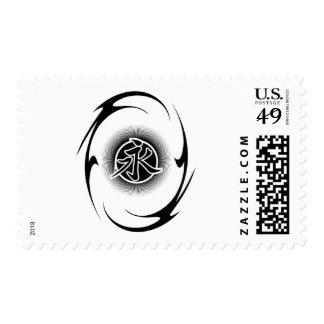 Tribal asiático fresco sello postal