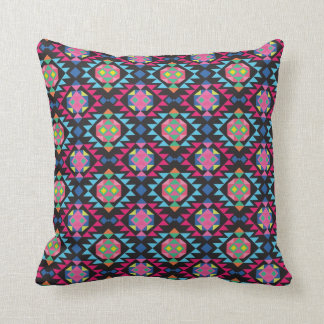 Tribal aztec andes geometric hipster arrow pattern pillow