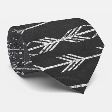 Aztec Themed Tribal Aztec Arrow Pattern Chalkboard Print Tie