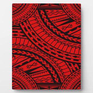 Tribal Aztec Art Red Black Display Plaques